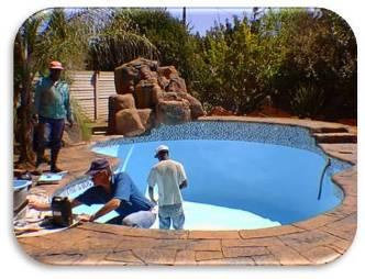 DIY Pool Paint Application